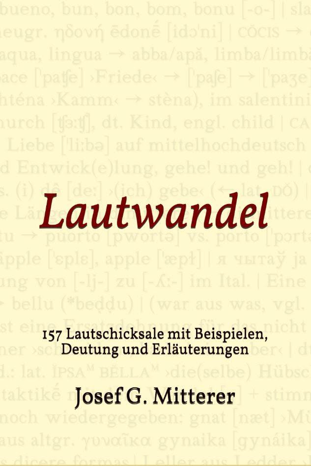 Lautwandel Buchcover Josef G. Mitterer
